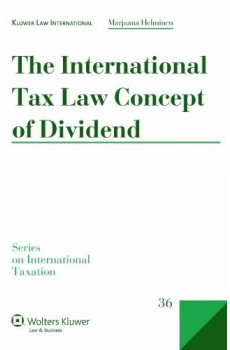 The International Tax Law Concept of Dividend - Marjaana Helminen