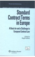 Standard Contract Terms in Europe